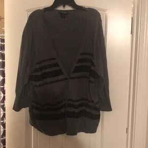 Lane Bryant cardigan with lace detail